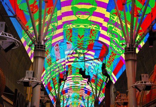 Spectacle de Freemont Street Experience à Las Vegas