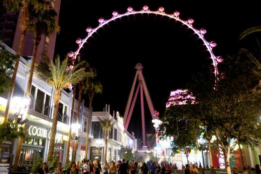 La Grande Roude de Las Vegas, avec vue sur la ville
