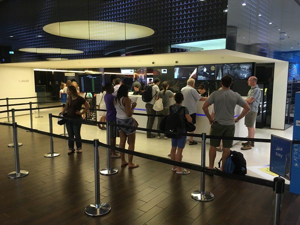 File d'attente - Visite du Burj Khalifa