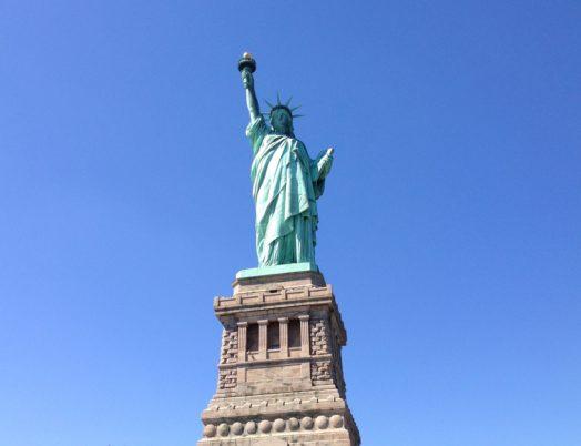 Statue de la Liberté depuis Ellis Island à New York