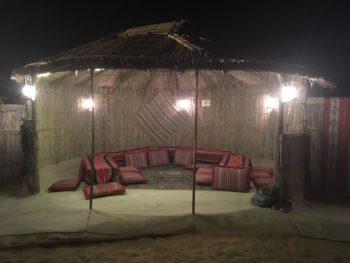 Tentes lors d'un safari à Dubai