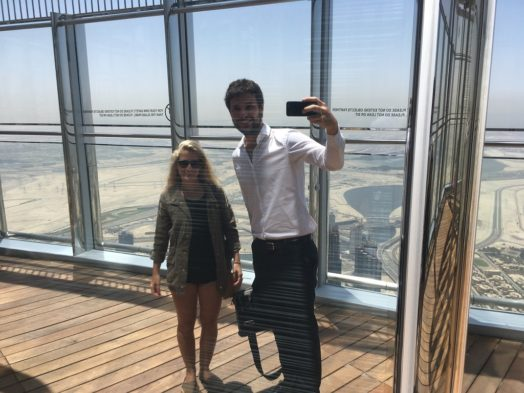 Terrasse du 148e étage - Visite du Burj Khalifa