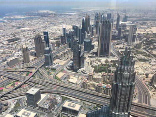 Visite du Burj Khalifa - Vue depuis le 124e étage