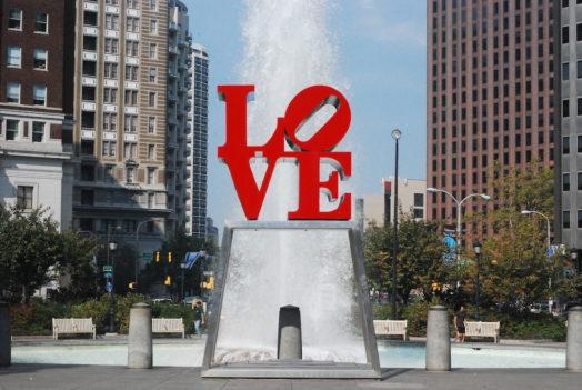 Le célèbre signe LOVE de Philadelphie