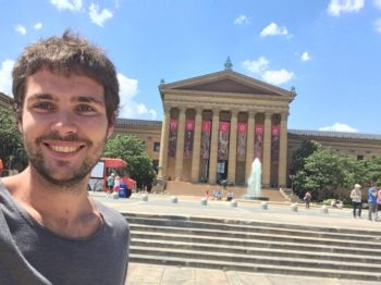 Museum of Art à Philadelphie, en face des Rocky Steps