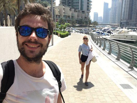 Promenade dans la Dubai Marina