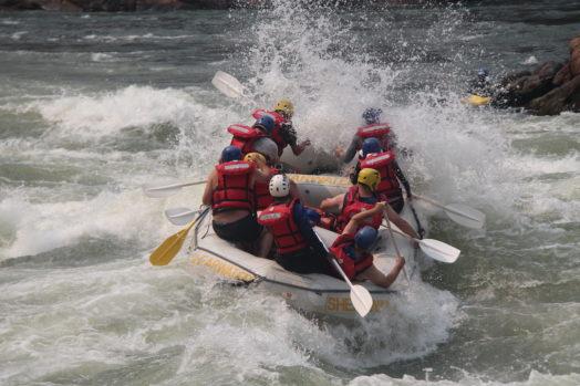 Excursion rafting aux Chutes Victoria