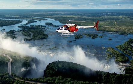Survoler les Chutes Victoria en hélicoptère