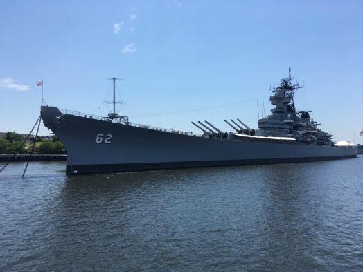 USS New Jersey à Philadelphie - Vue depuis le Riverlink Ferry